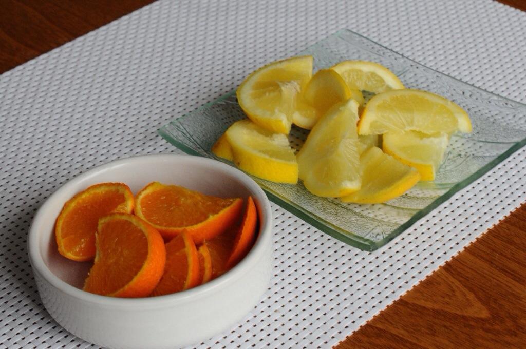 Citron et orange pour une eau aromatisée maison