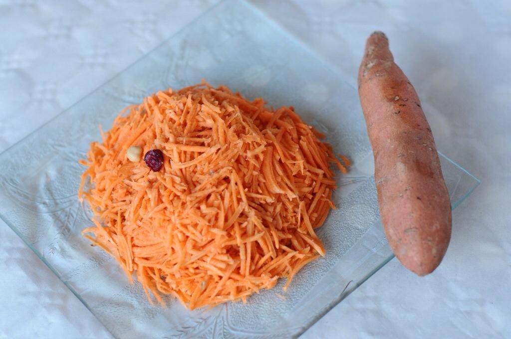 De la patate douce crue