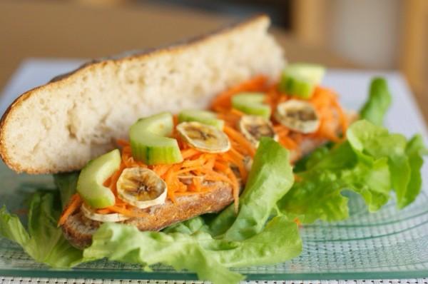 Un sandwich végétarien