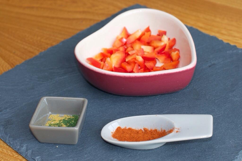 Du poivron rouge et des épices