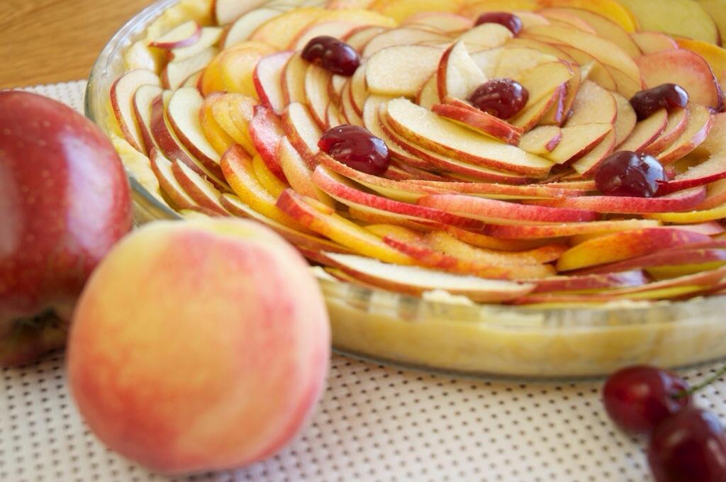 Bien coller les fruits pour votre tarte