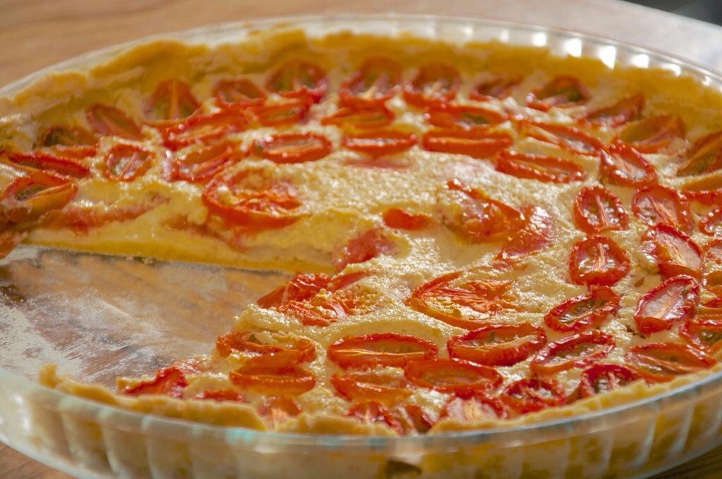 Une tarte aux tomates