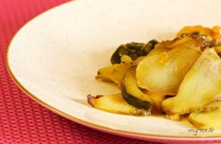 Un curry de pommes de terre