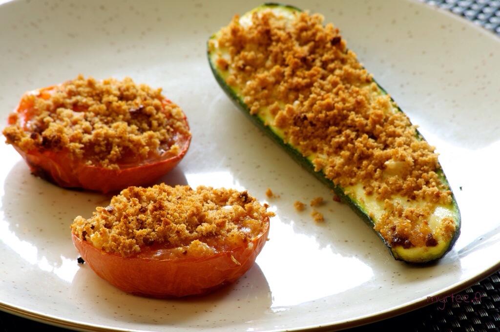 De délicieux légumes parsemés de pain d'épices