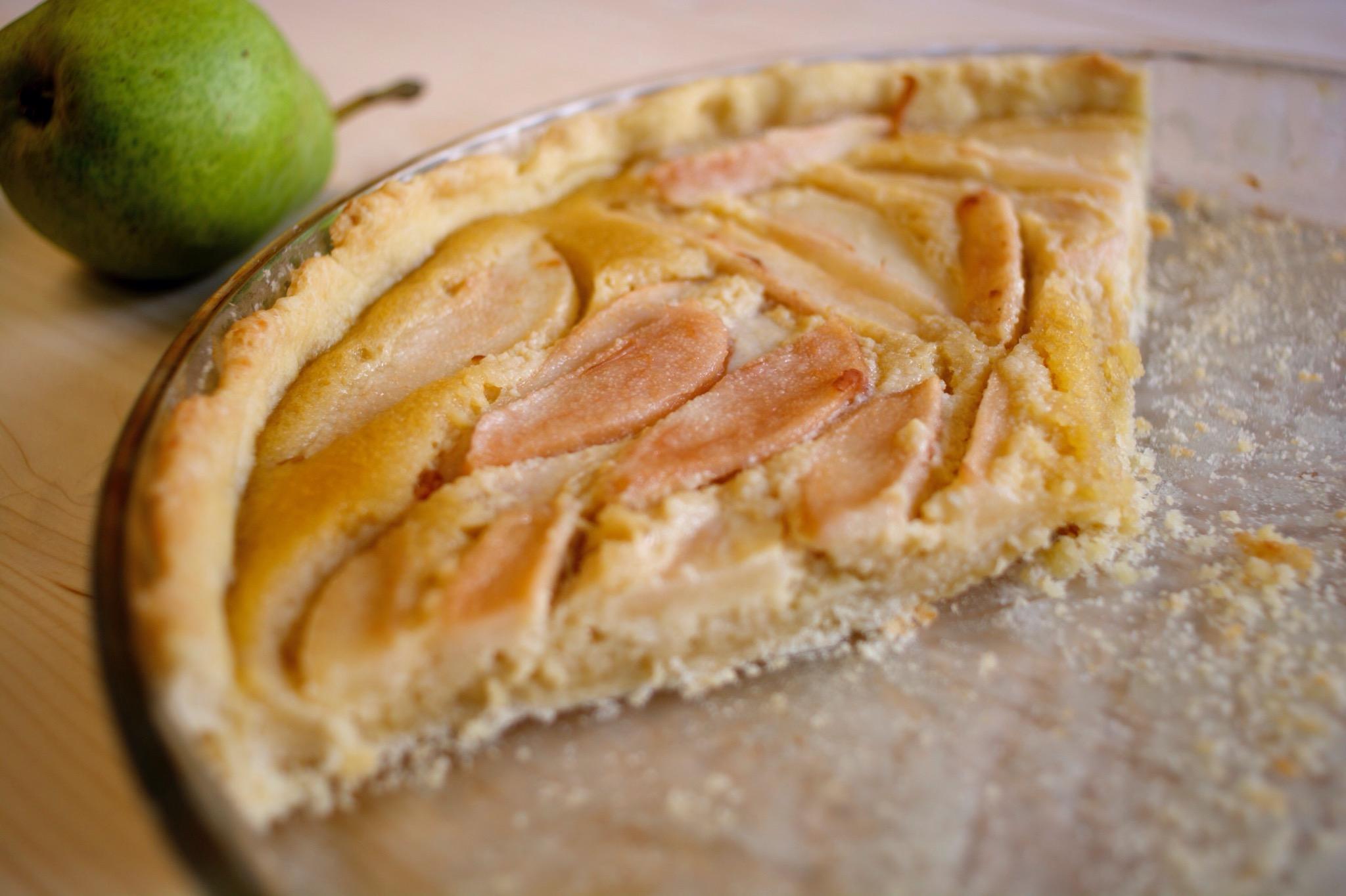 Une tarte aux poires d'automne
