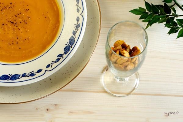 Une soupe de potimarron aromatisée à la clémentine