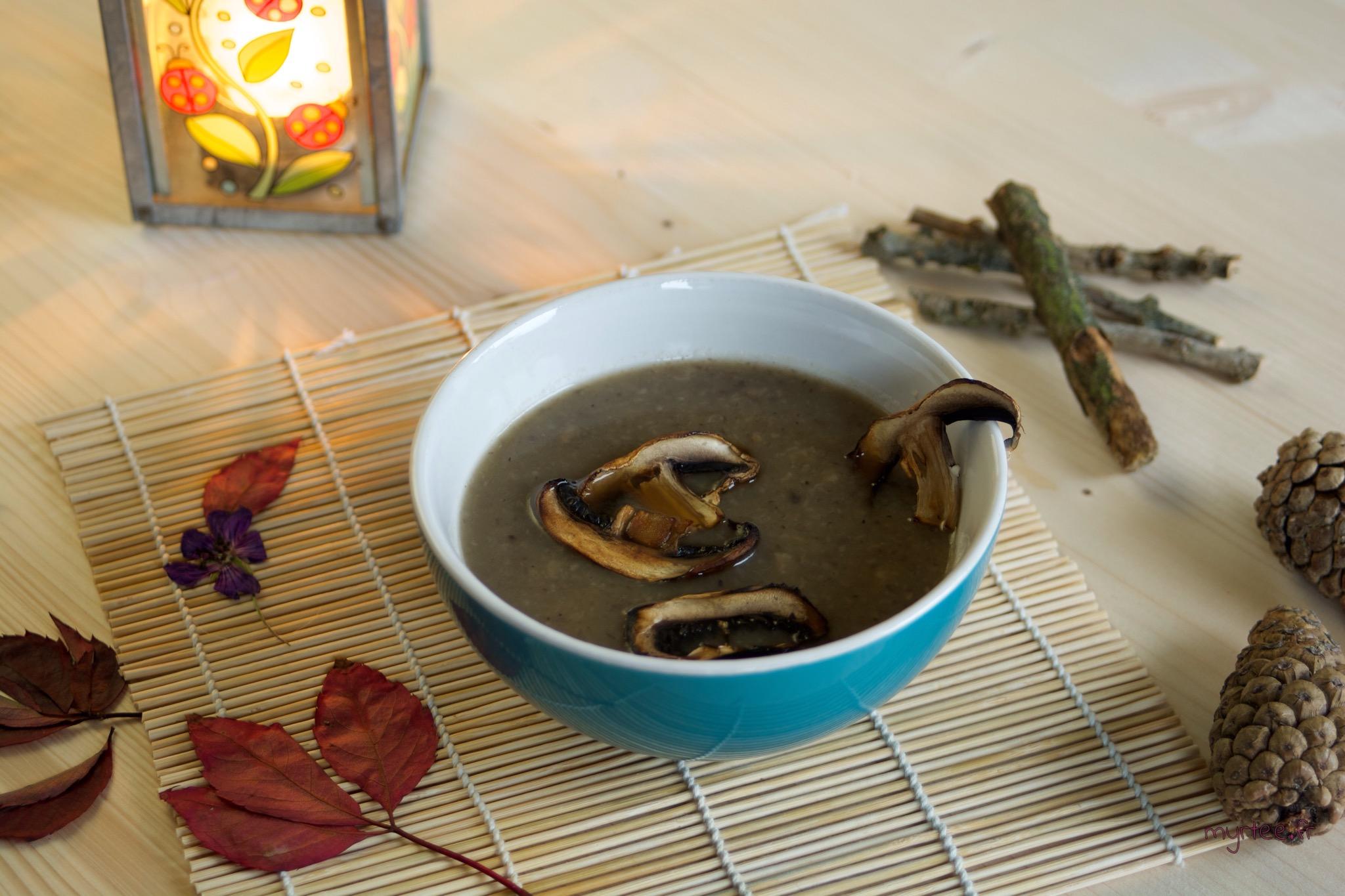 Une soupe aux champignons