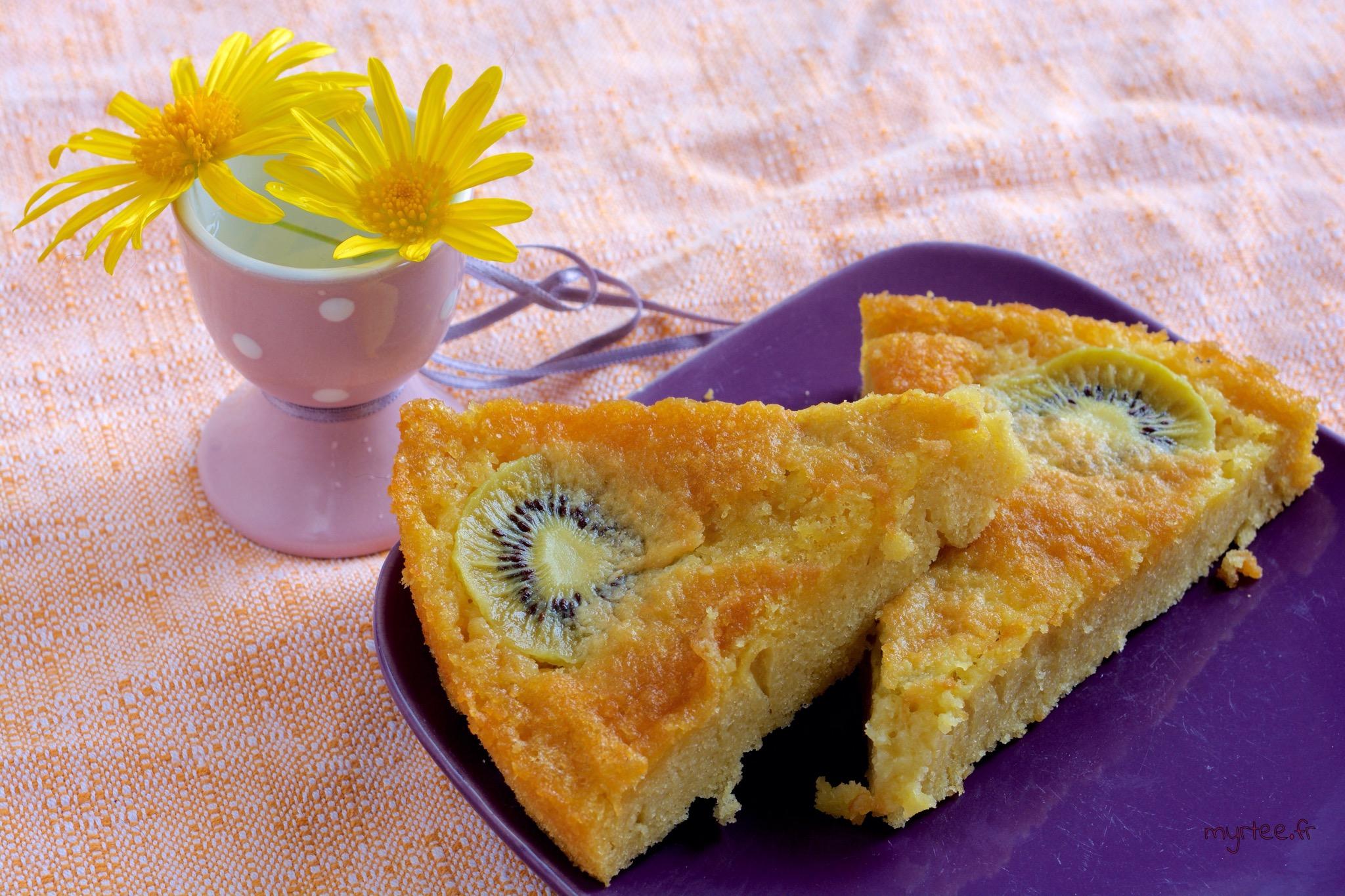 Un gâteau aux kiwis