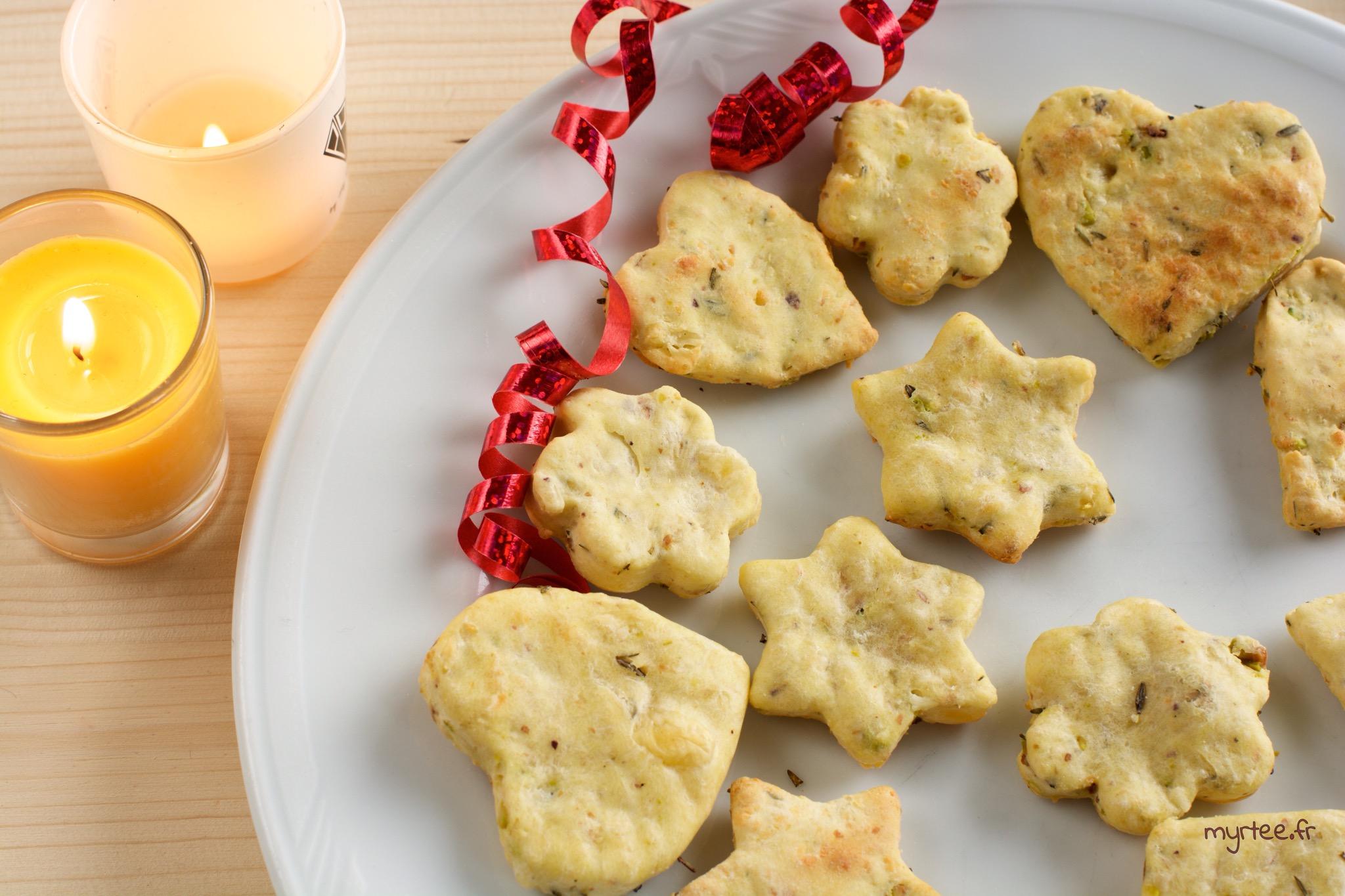 Des biscuits apéritifs à l'emmental