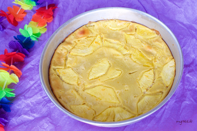 Un clafoutis à l'ananas