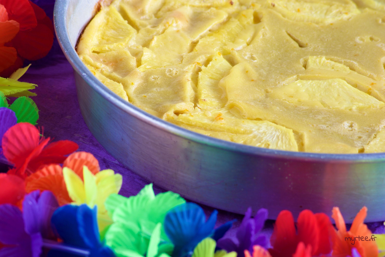 Un clafoutis à l'ananas sans lactose