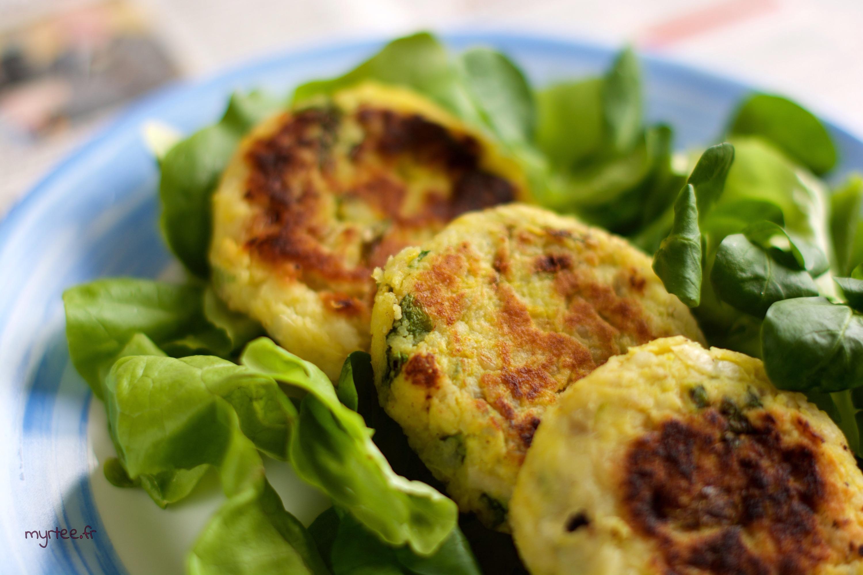 Des galettes végétariennes à la patate douce