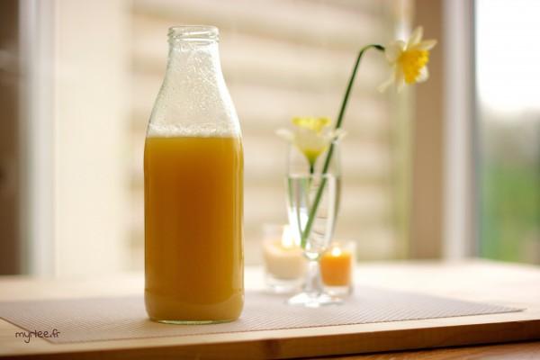 Un apéritif ananas-gingembre sans alcool