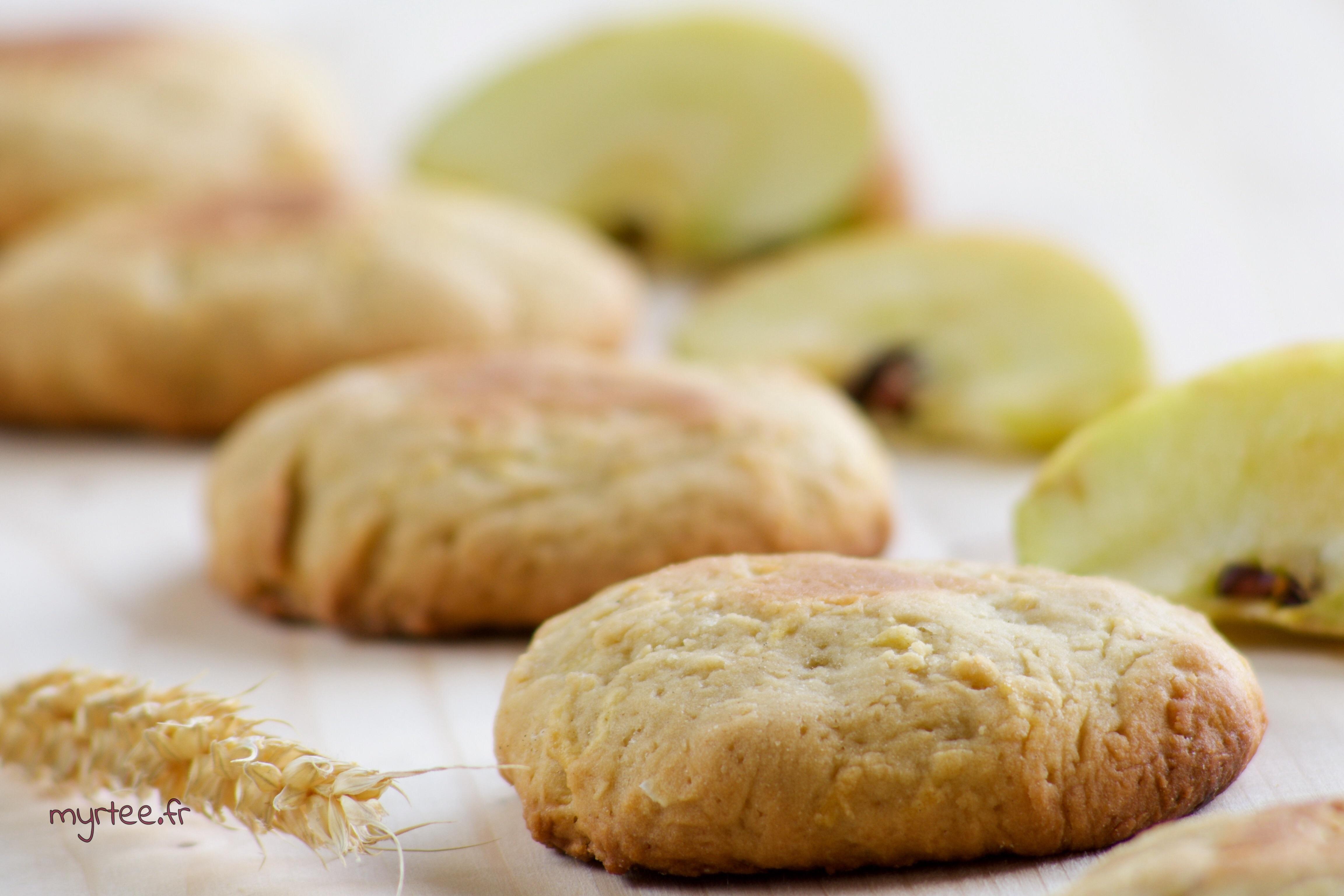 Des biscuits aux pommes et au gingembre