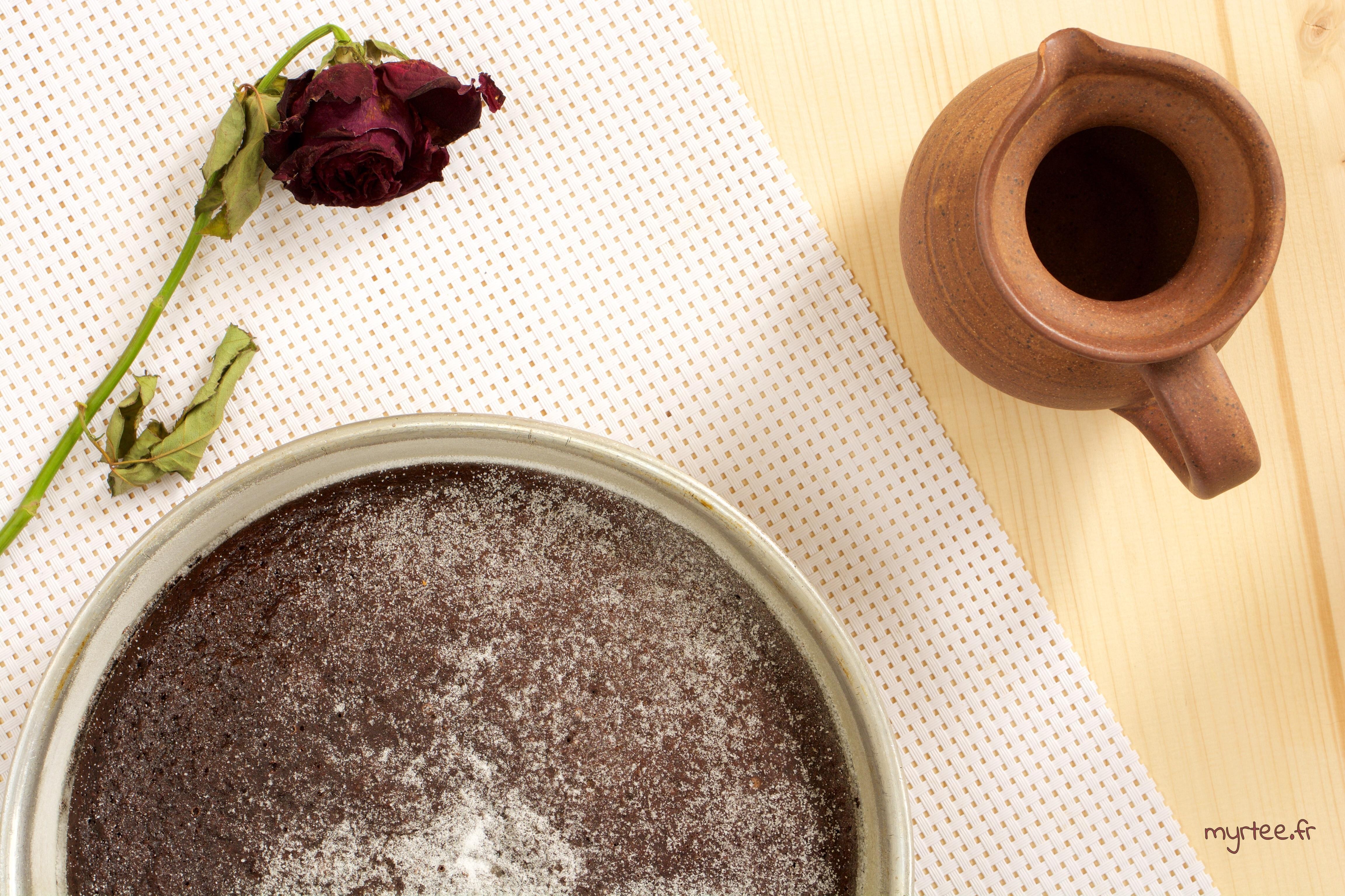 Un gâteau au chocolat vegan