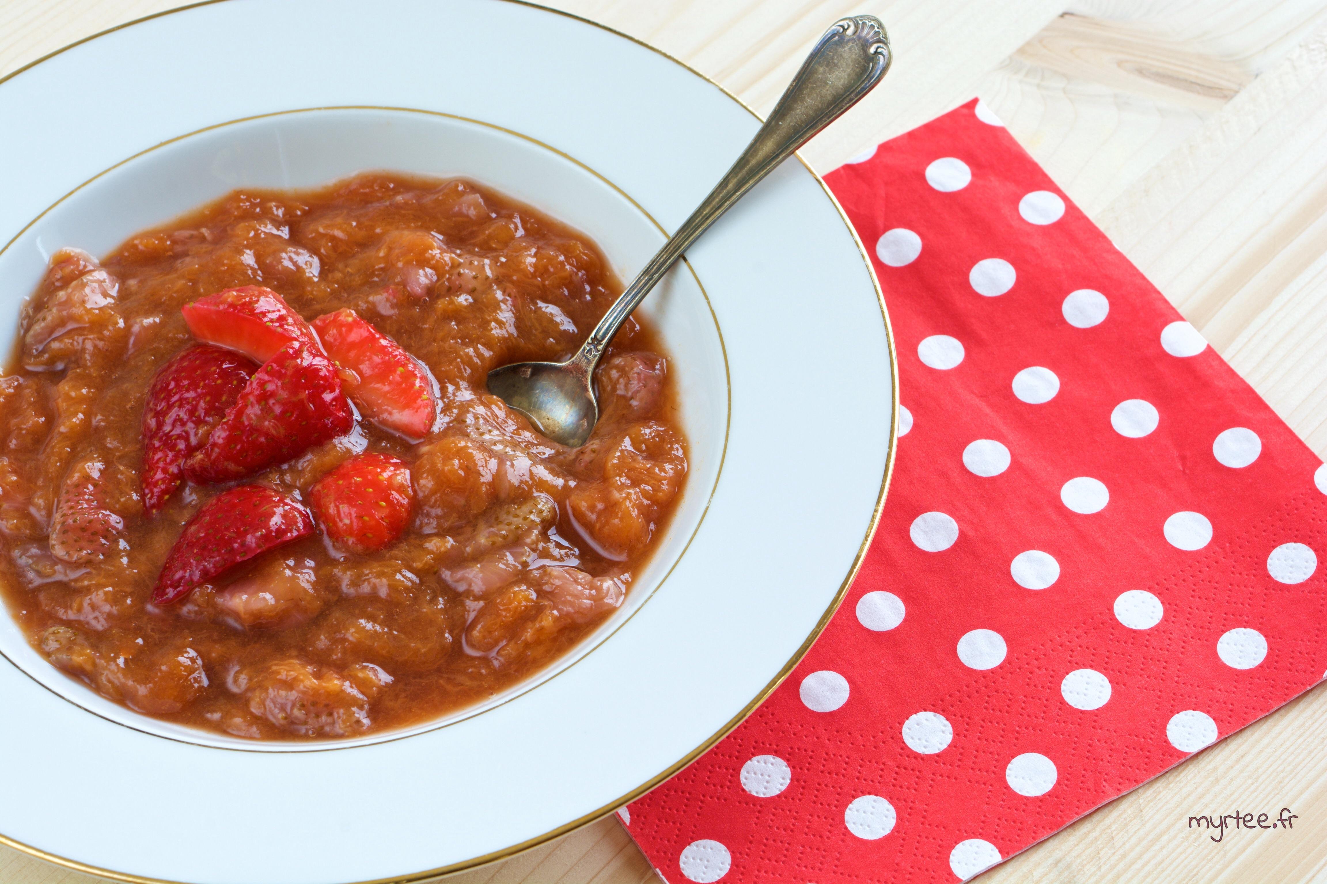 Une compote melons-fraises