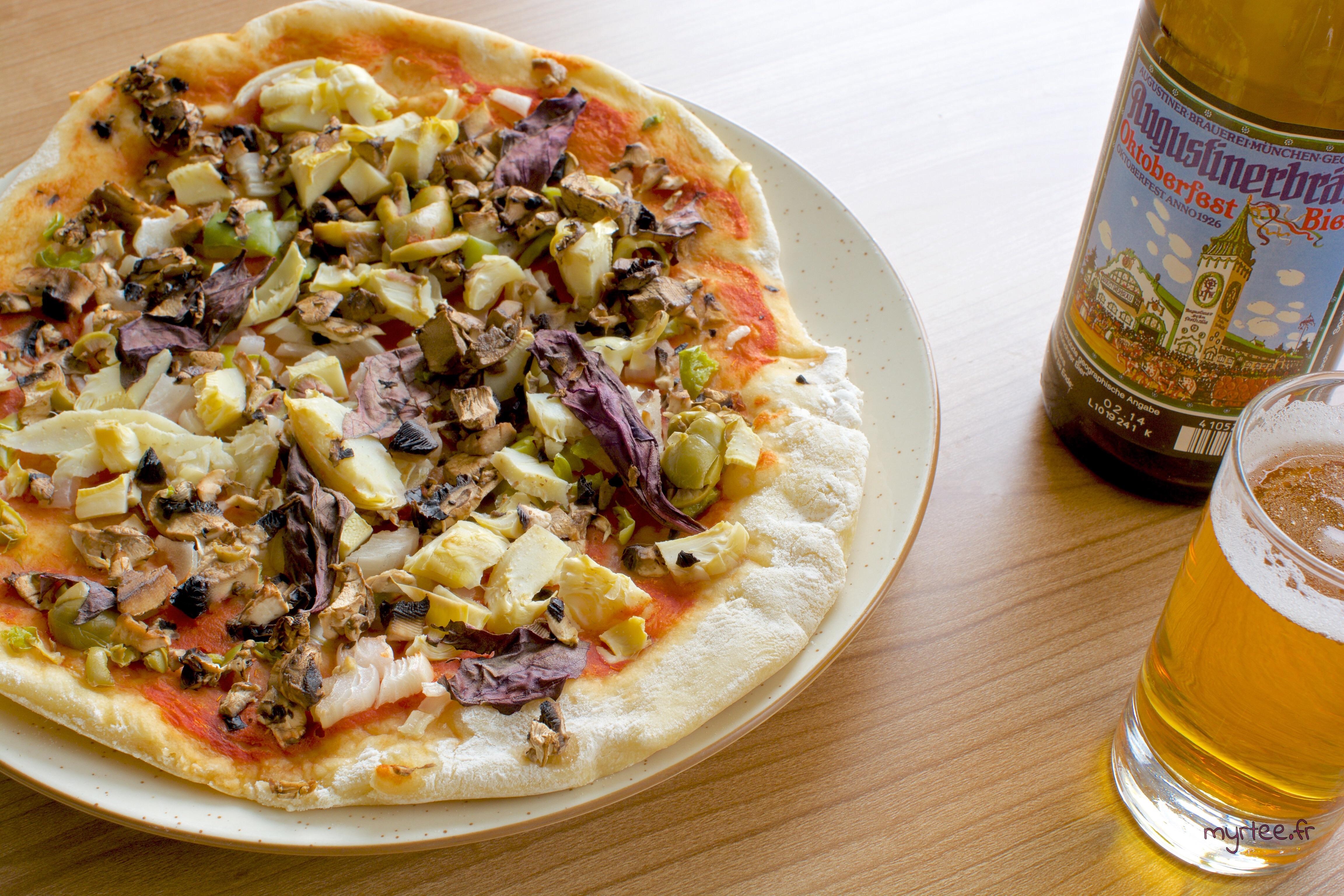Pizza au coeur d'artichaut (vegan)