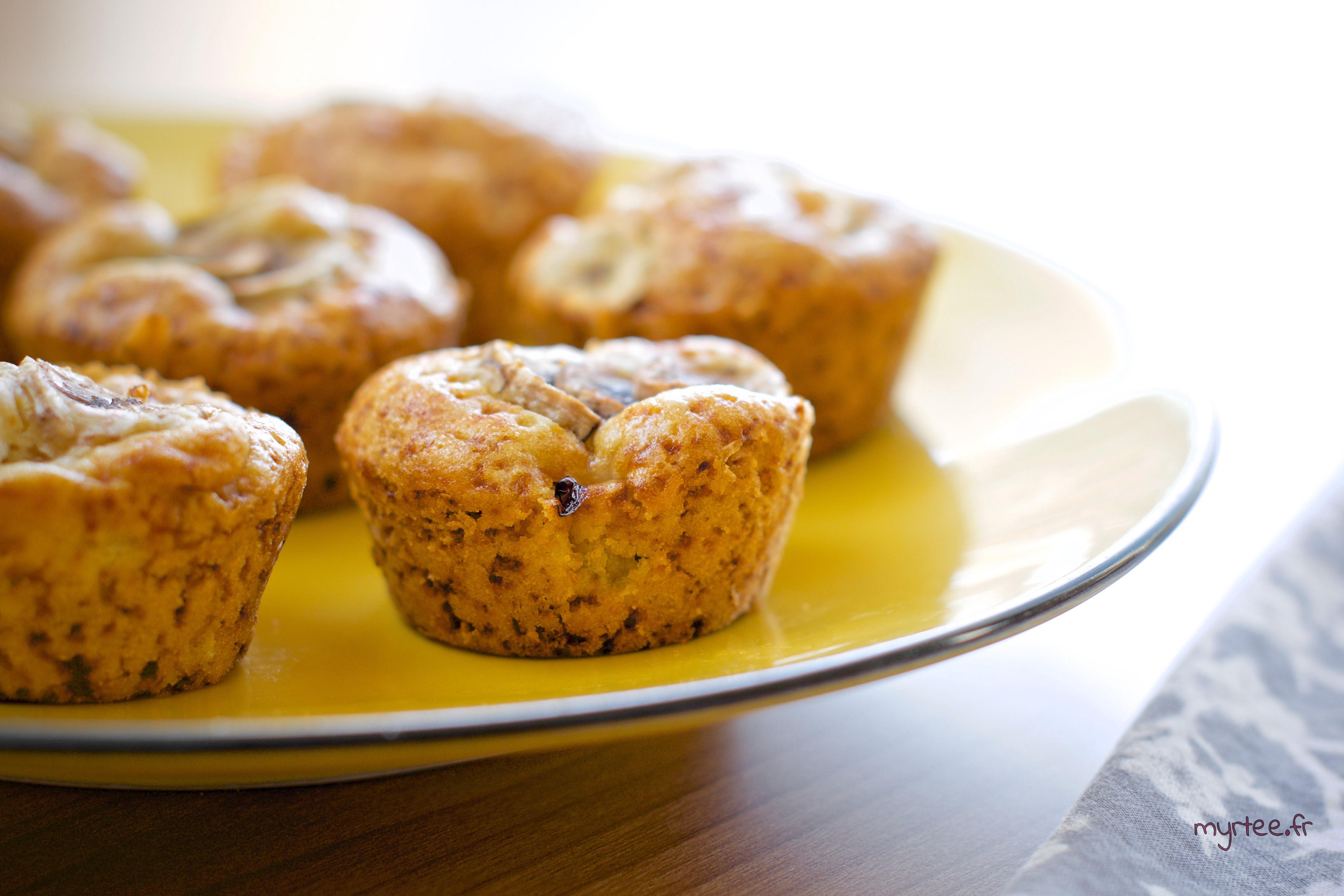 Des muffins à la rhubarbe (vegan)
