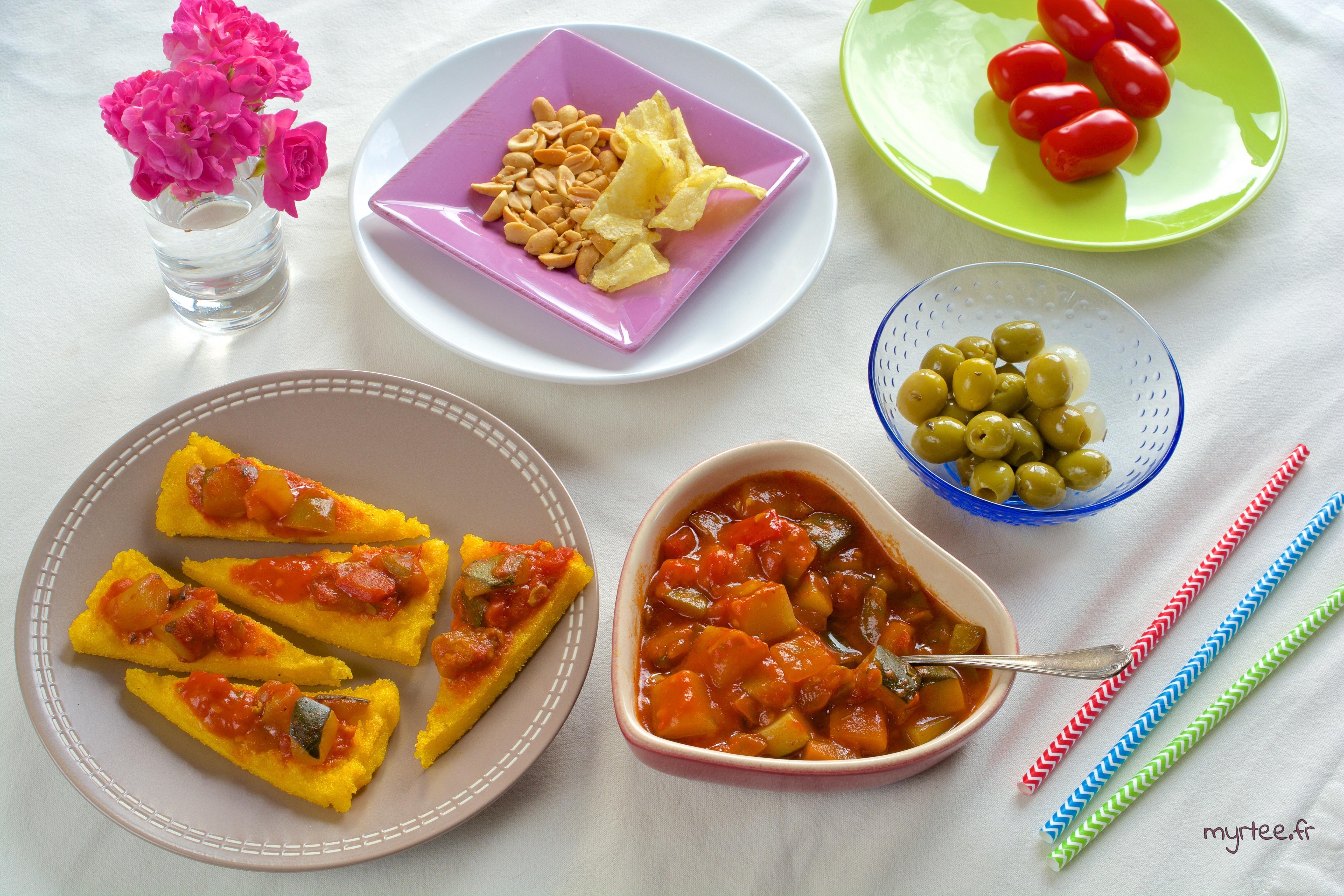 Un apéritif à la polenta (vegan)