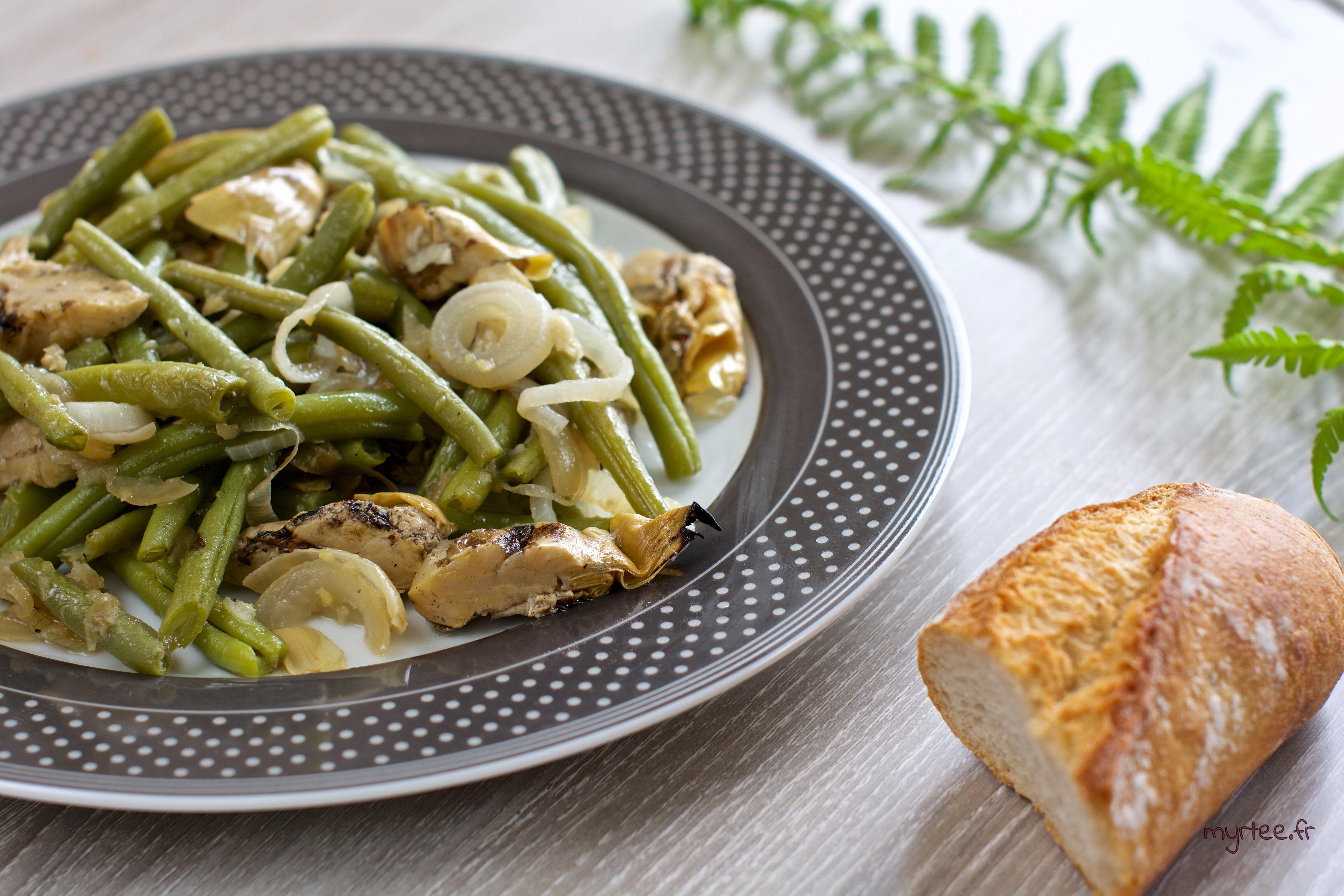 Poêlée de haricots vert (vegan)