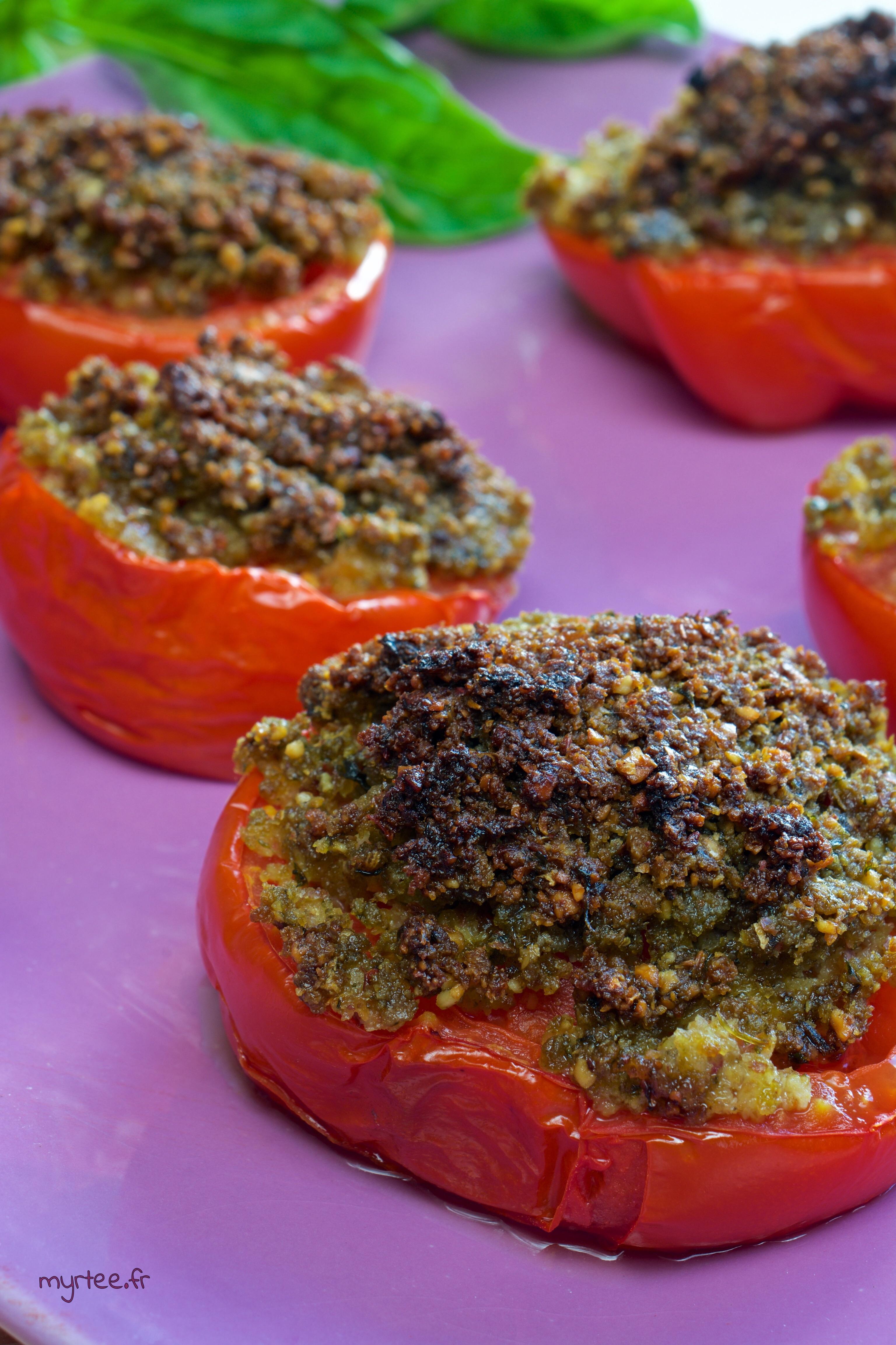 Les tomates à la provençale de Myrtee (vegan)