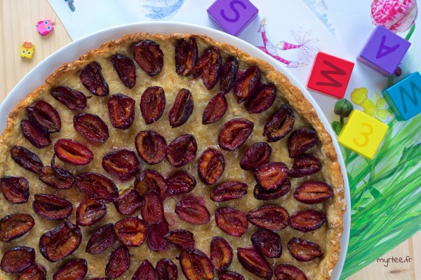 Tarte-biscuit aux prunes
