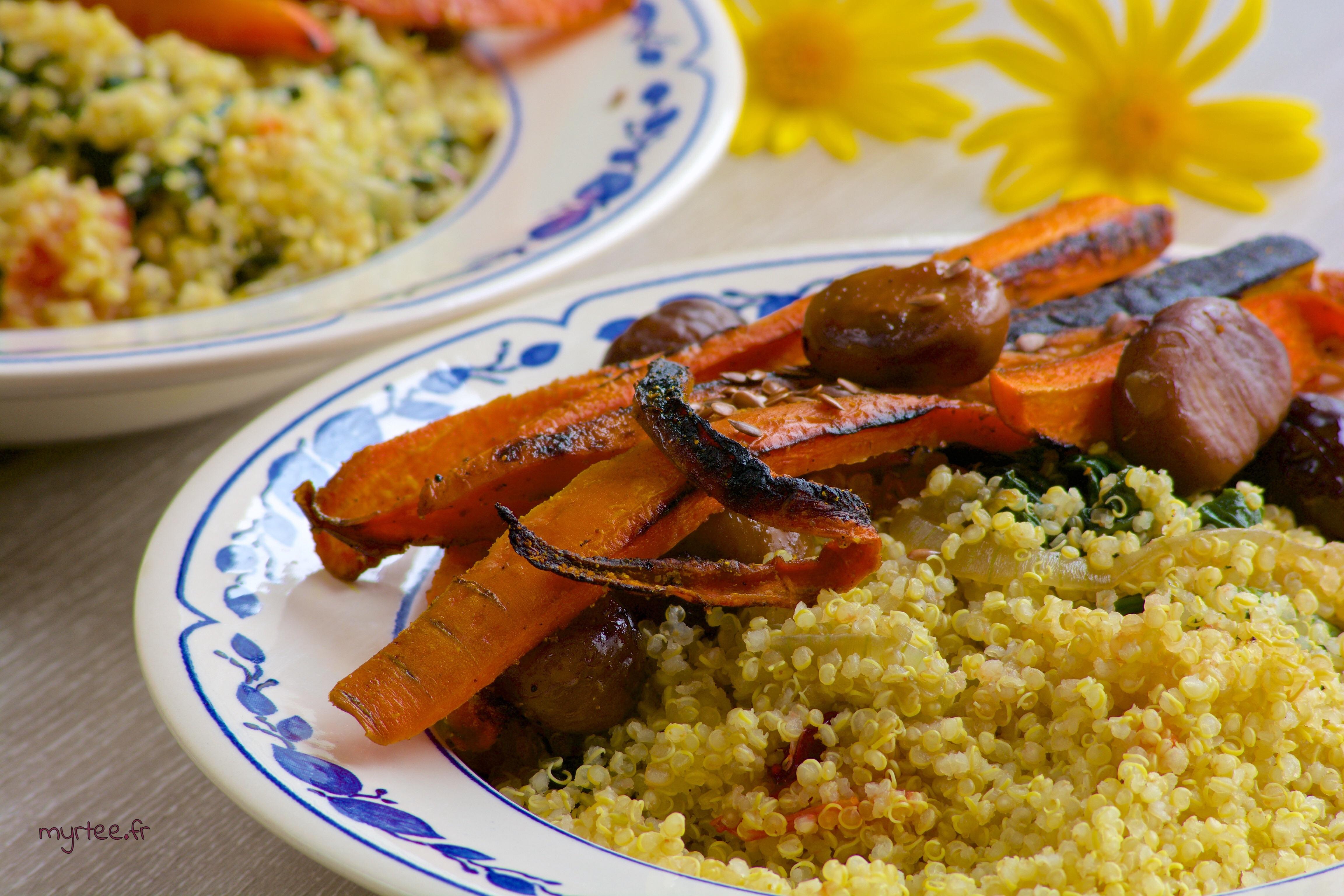 Quinoa et ses carottes rôties