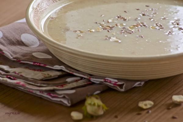 Soupe de chou fleur et pommes (vegan)