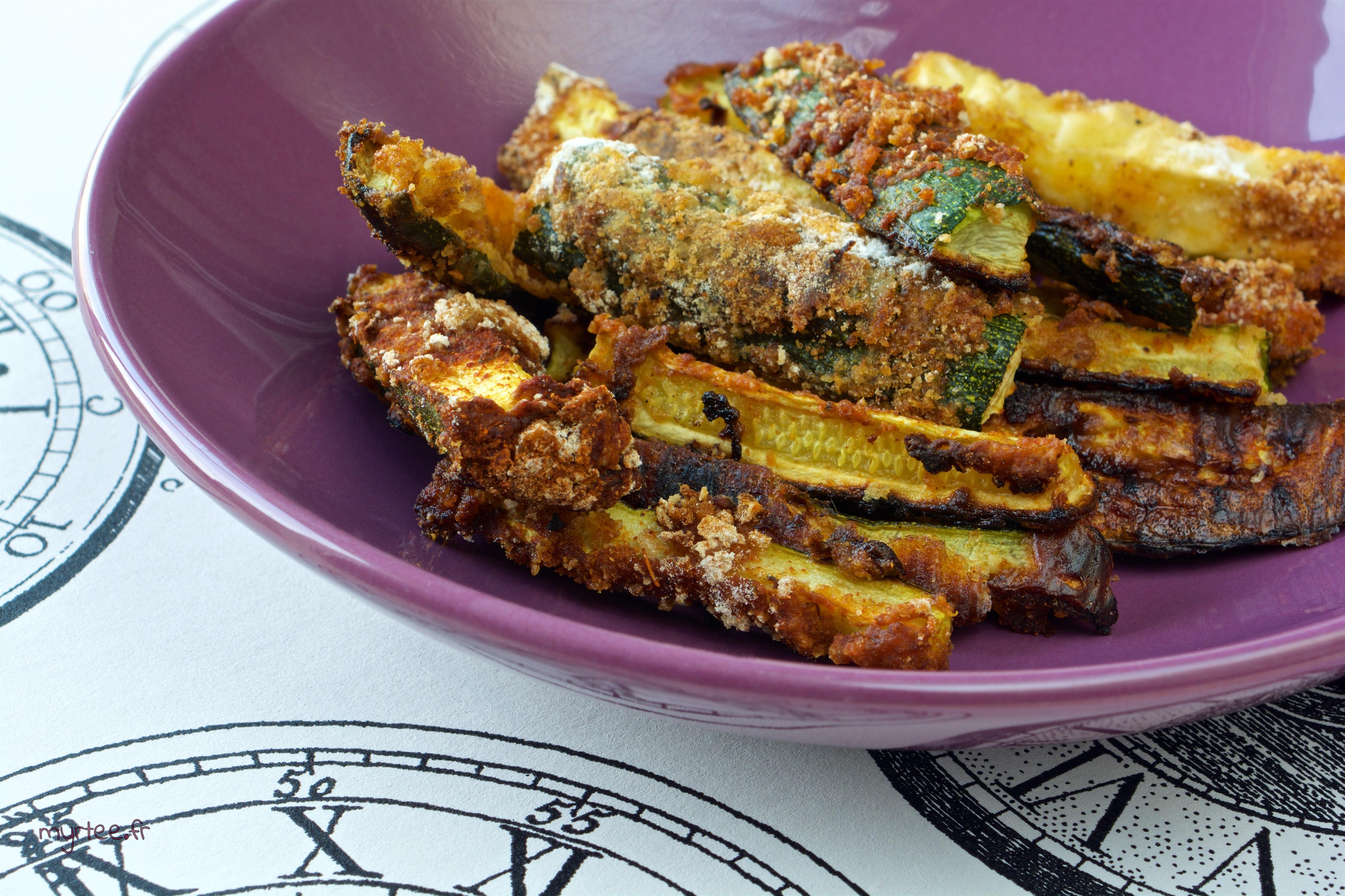 Frites de courgettes (vegan)