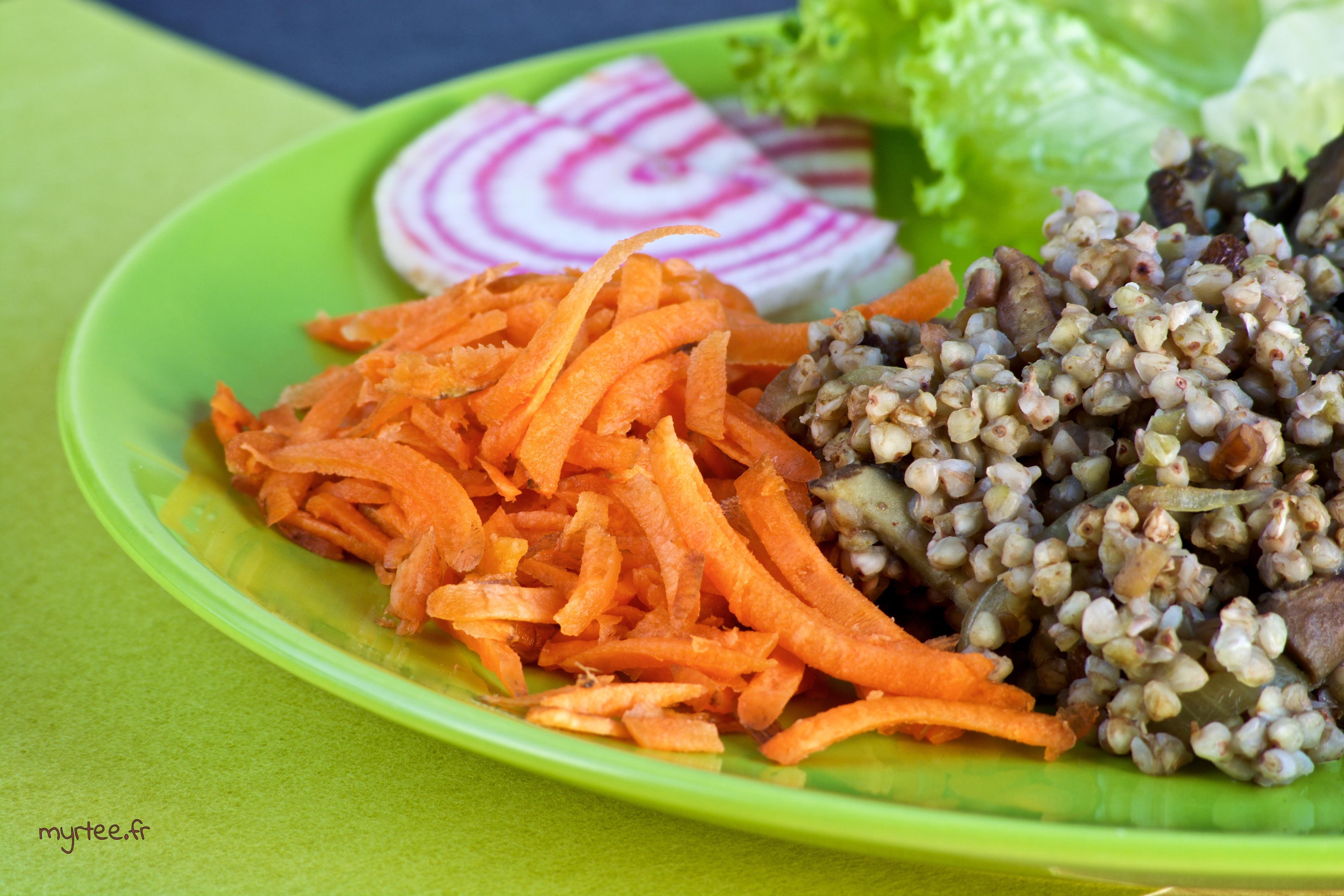 Poêlée de graines de sarrasin aux champignons (vegan)
