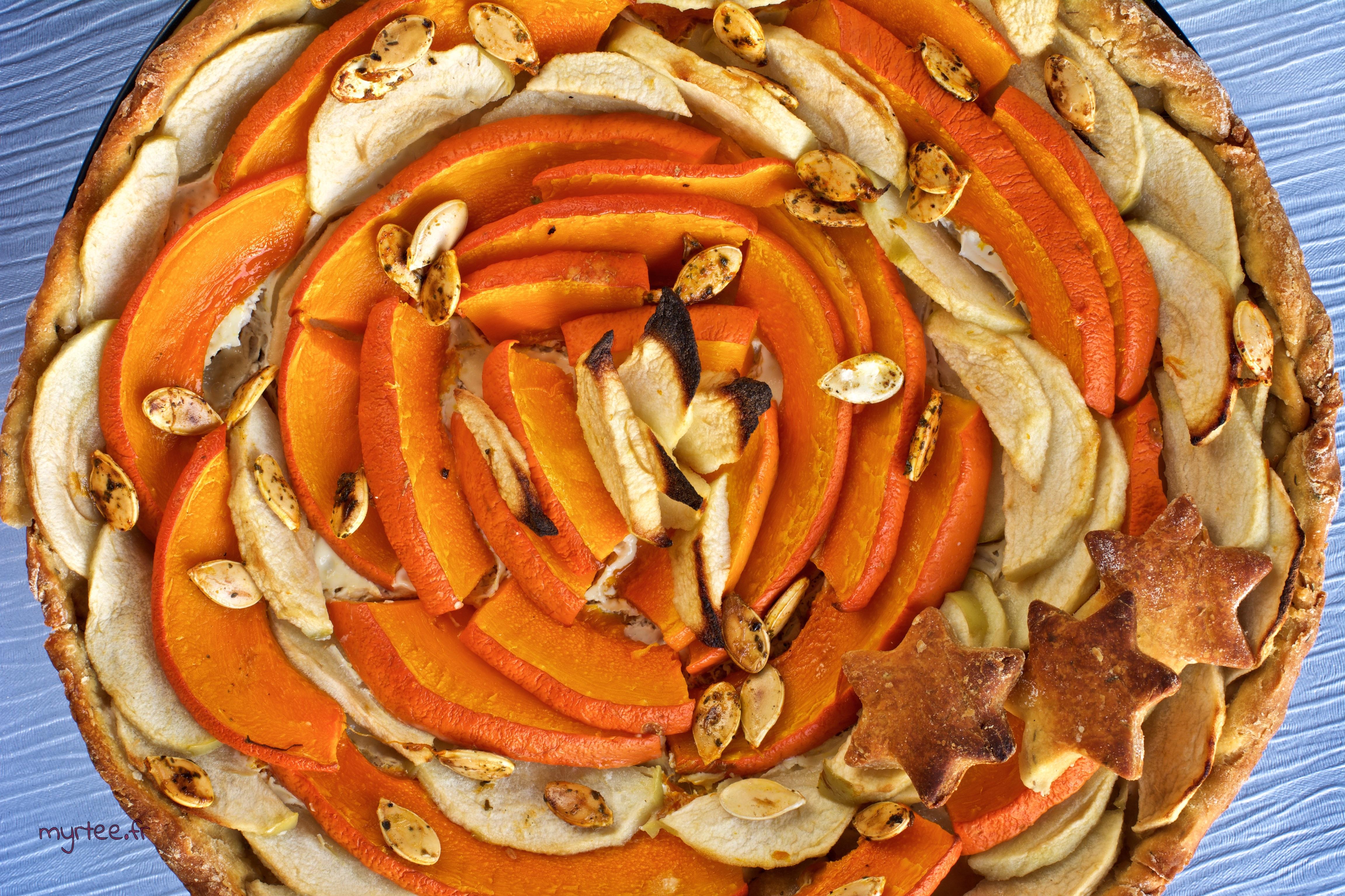 Tarte pommes et potimarron (vegan)