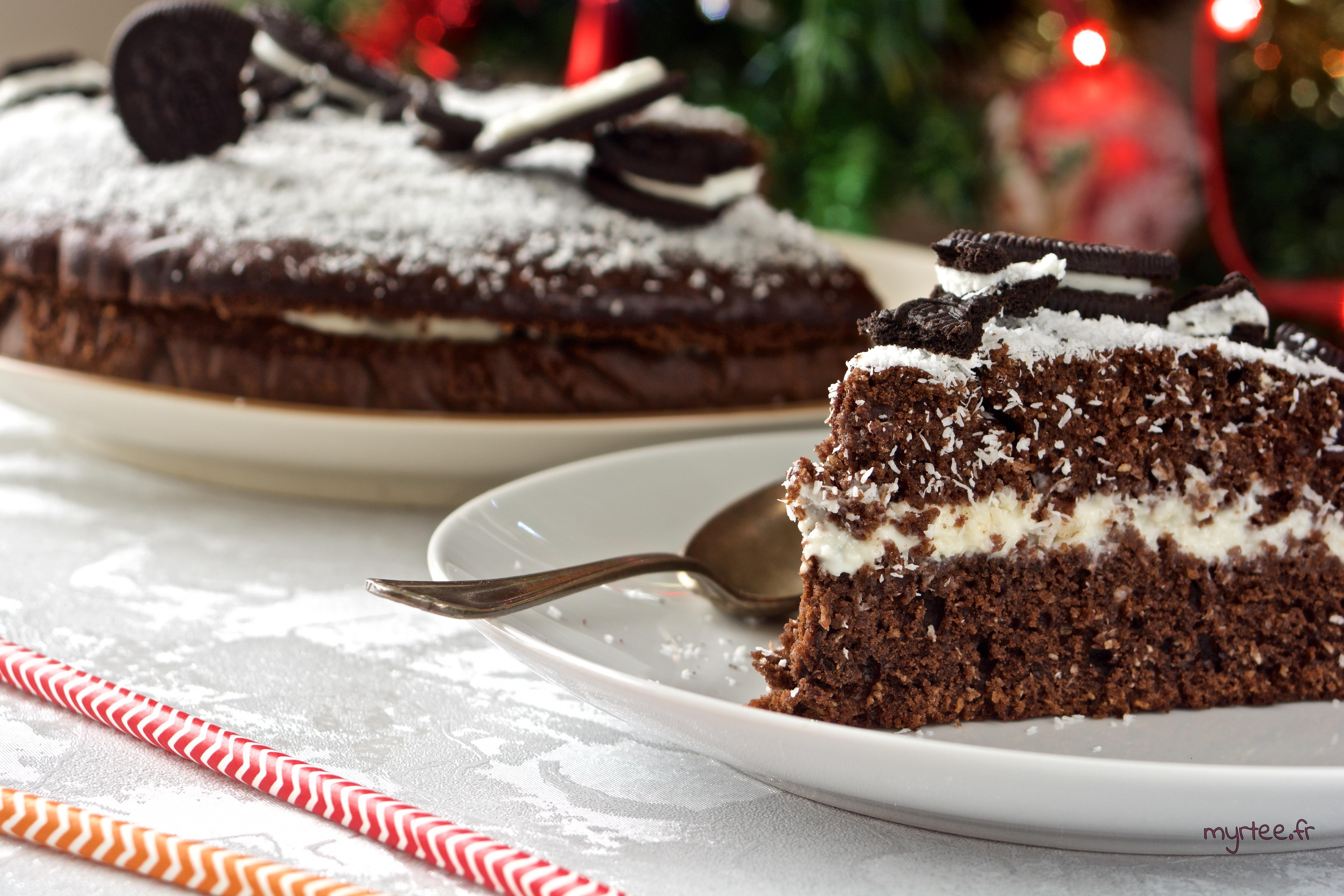 Un gâteau au chocolat de noël (vegan)