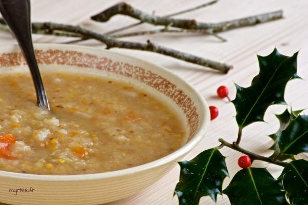 Une soupe au chou et pruneau (vegan)