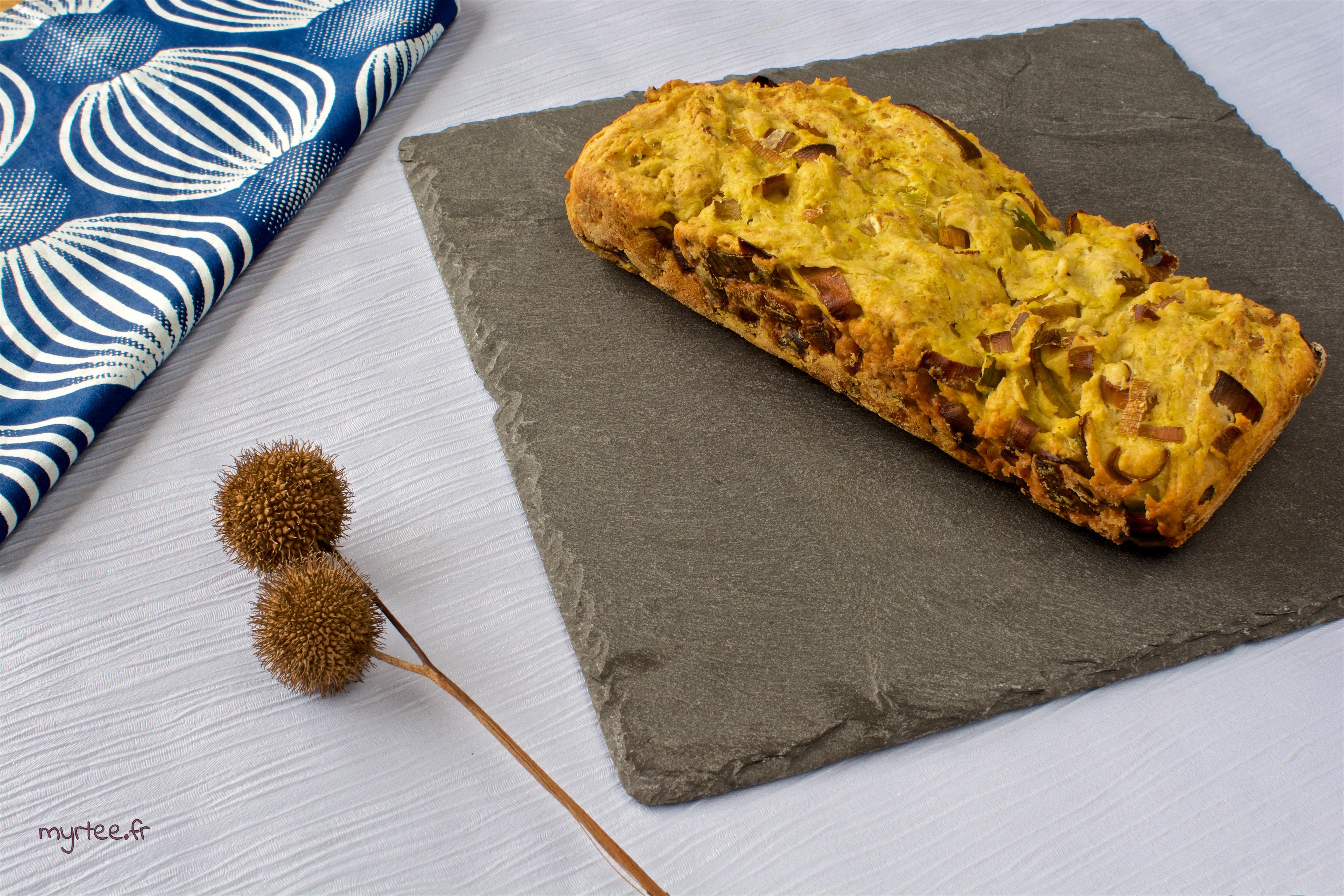Un cake au poireau (vegan)