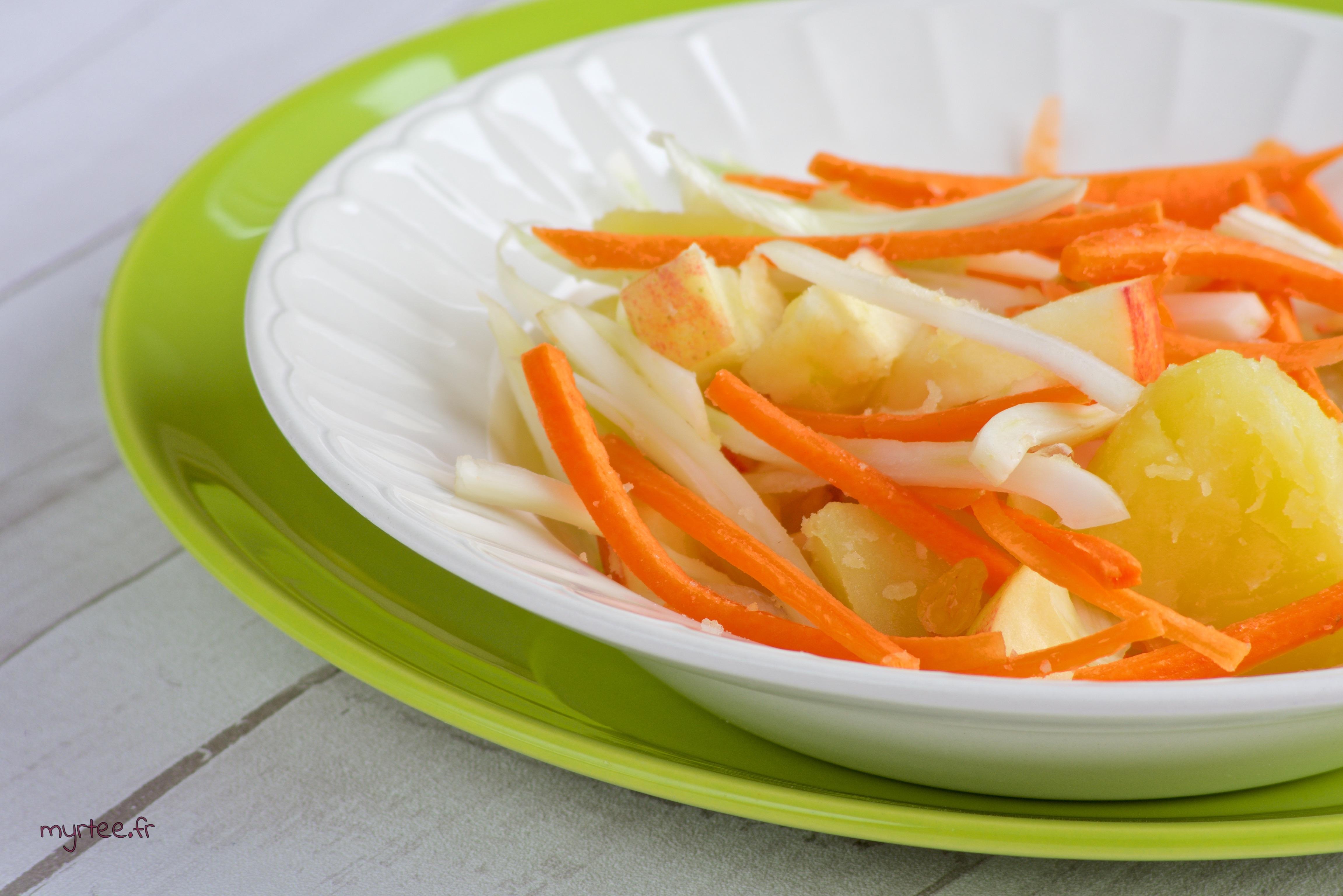 Une salade de fenouil (vegan)