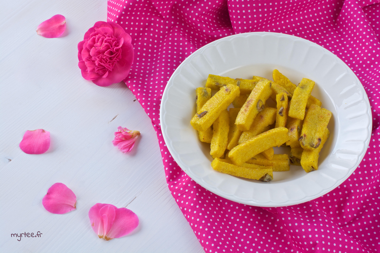 Des frites de polenta épicées
