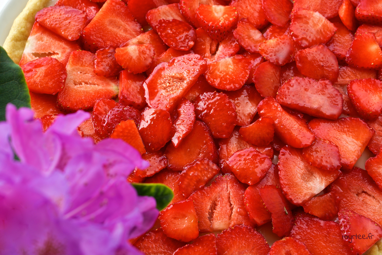 Une tarte fraises-citron (vegan)
