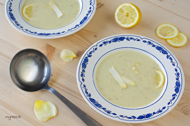 Crème d'asperges au citron (vegan)