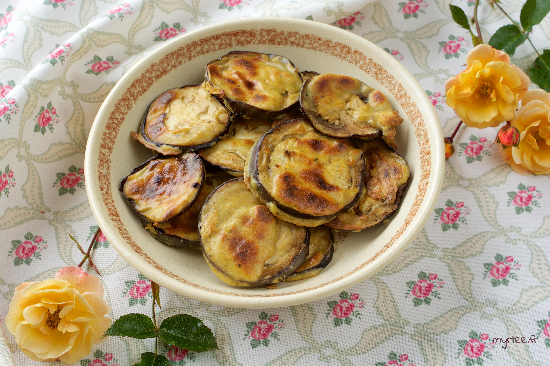 Beignets d'aubergine au four (vegan)