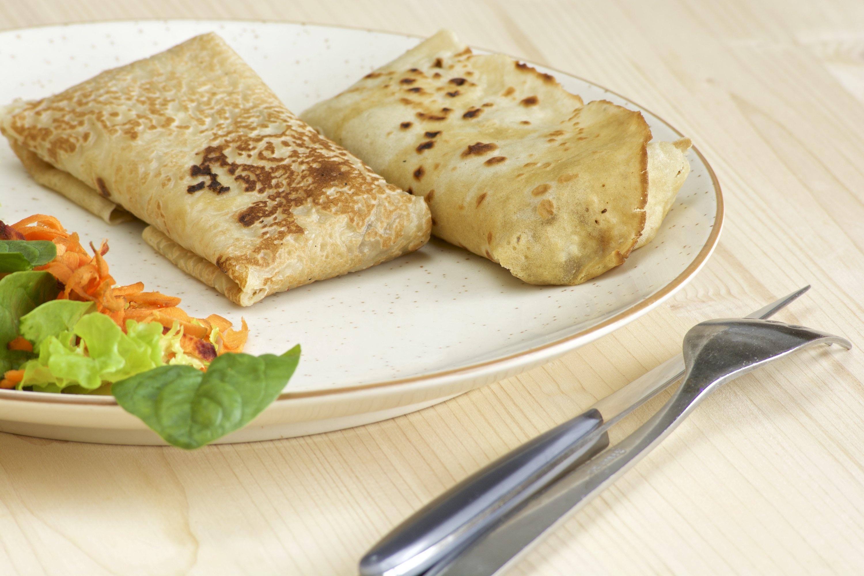 Des crêpes jambon-fromage (vegan)