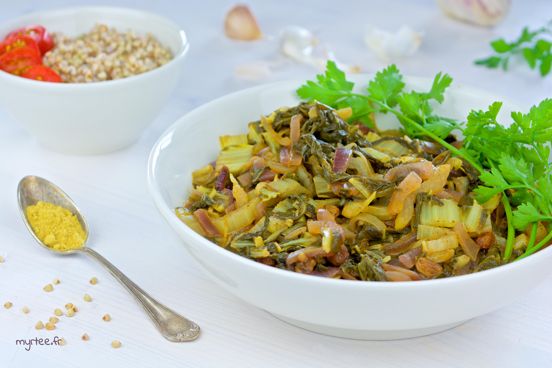 Des feuilles de blettes au curry vegan - Comment cuisiner des feuilles de blettes ...
